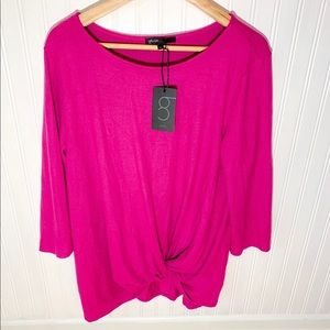 Gibson Pink Knot Sweater